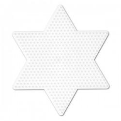 Stjärna - Hama Midi Pärlplatta